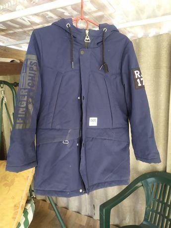 Куртка осенняя - парка на мальчика рост 146