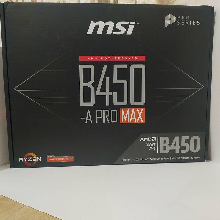 Материнская плата AM4, Msi b450 A pro MAX, почти как новая Кривой Рог - изображение 1