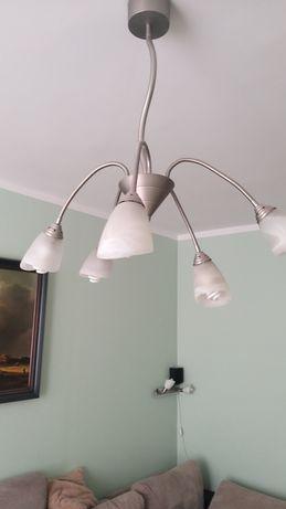 Lampa żyrandol pięcioramienny e14