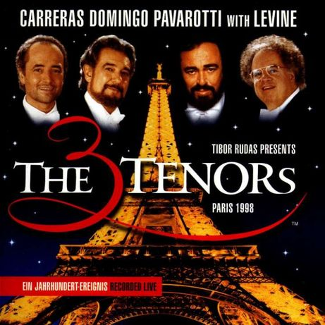 The Three Tenors In Paris Plattencover, cd de musica, portes grátis