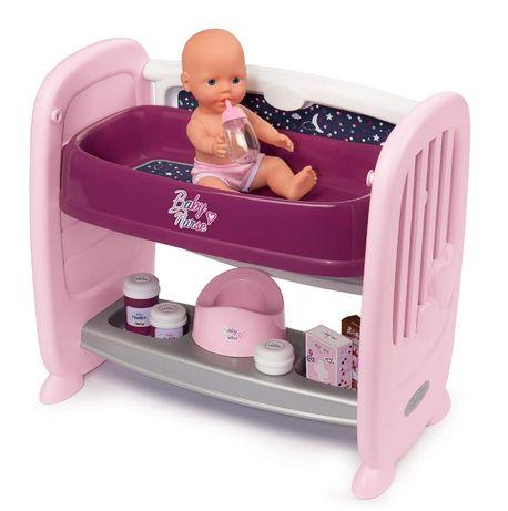 Кровать Smoby Baby Nurse Прованс с полкой и съемным столиком 220353