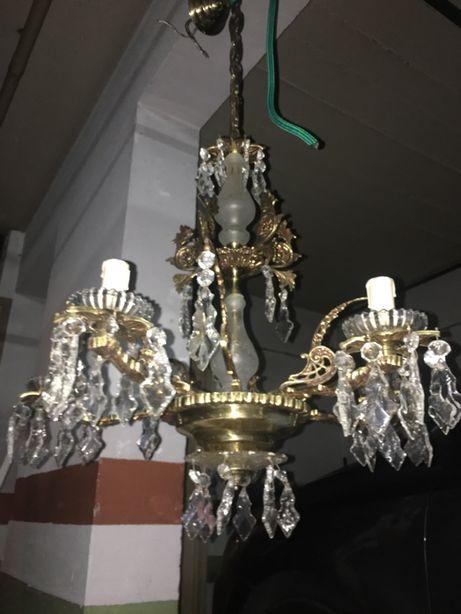 Lustre candelabro candeeiro de teto vintage