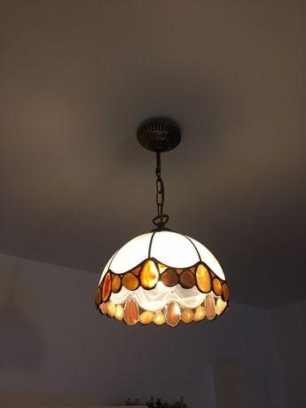 Lampa witrazowa/kamienie szlachetne