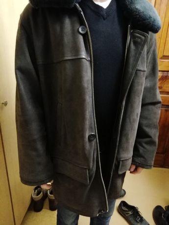 Куртка замш, овчина натуральная 56