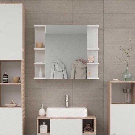 Влагостойкий шкаф в ванную тумба пенал стелаж зеркальный шкафчик полка