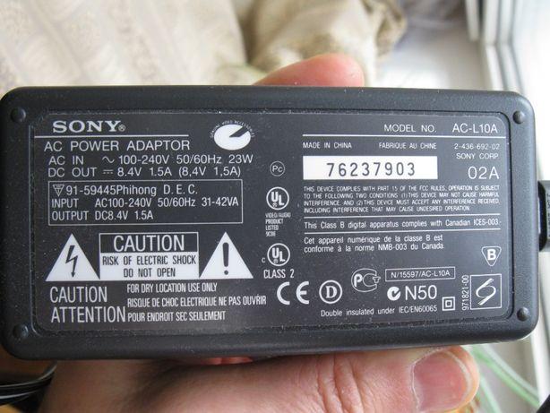 Сетевой адаптер питания (блок питания) Sony AC-L10A для видеокамер