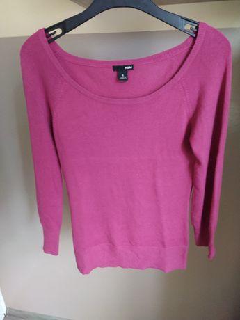sweter przez głowę ciemny róż marki H&M rozmiar S damski