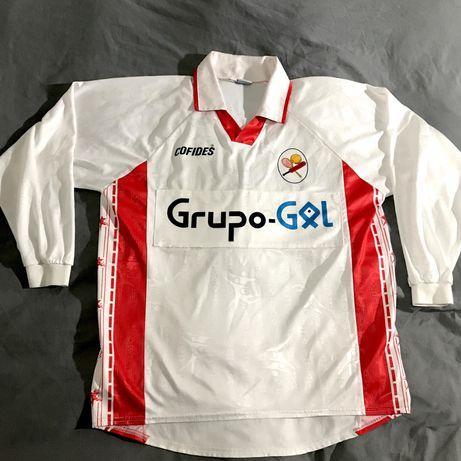 Camisola de jogo Leixões Sport Club equipamento futebol Matosinhos