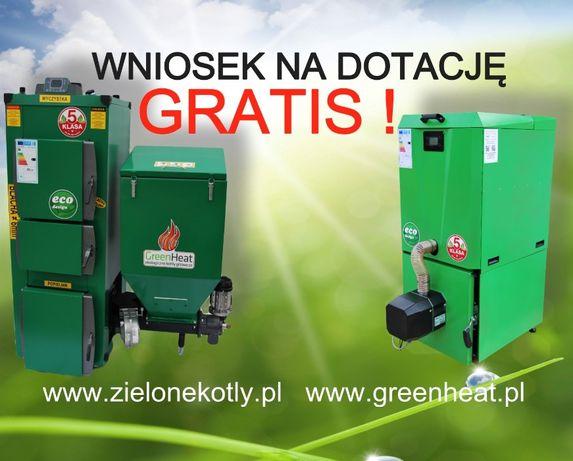 Kocioł, Piec CO na ekogroszek, pellet dotacja 10 kW TANIO! plus Pompa