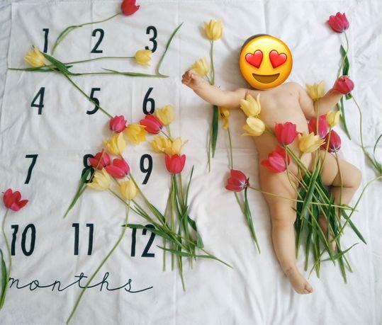 Фотофон детский, пеленка для фото, для фотосесии