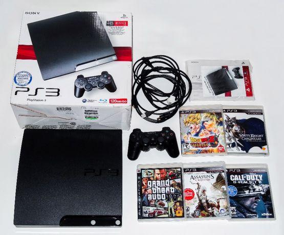 Приставка Sony PlayStation 3 Slim | Полный комплект + 7 игр