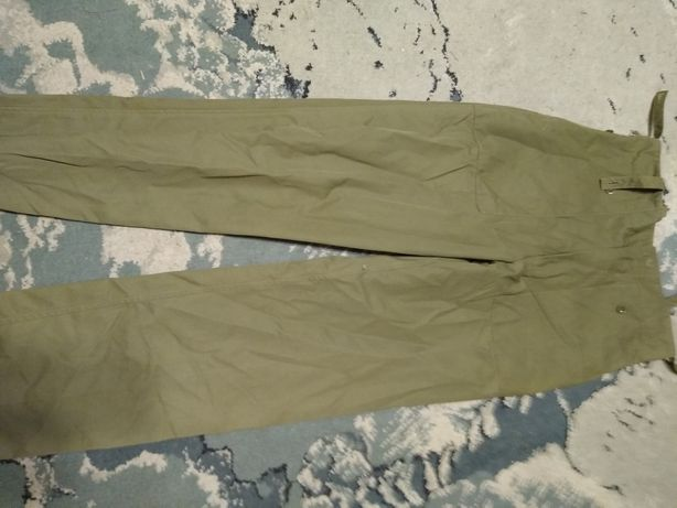 spodnie wojskowe moro jednokolorowe /zielone orginalne