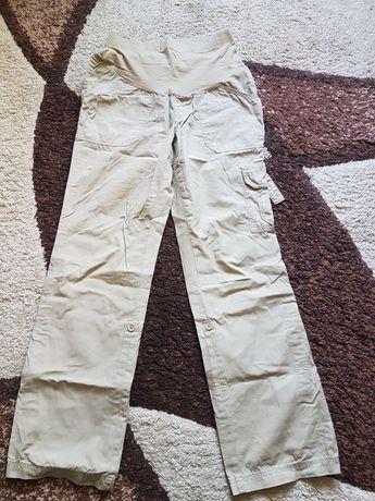 Spodnie bojówki 3/4 ciążowe r.s 36 materiałowe