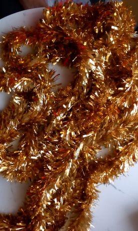 Łańcuchy złote na choinkę