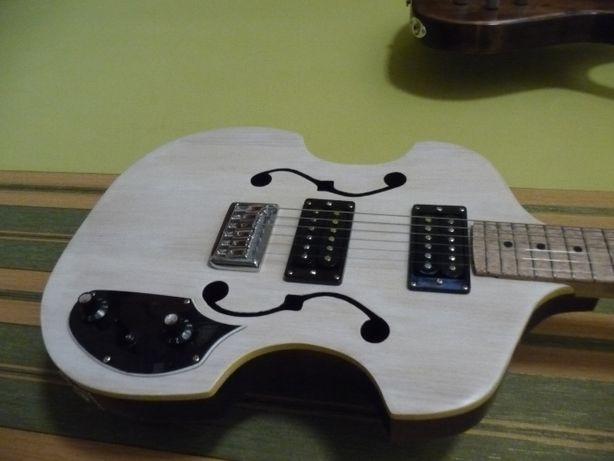 Gitara elektryczna lutnicza skrzypcówka