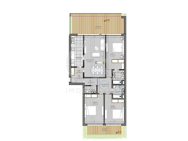 Apartamento T3 Novo Na Zona Do Vale Das Flores