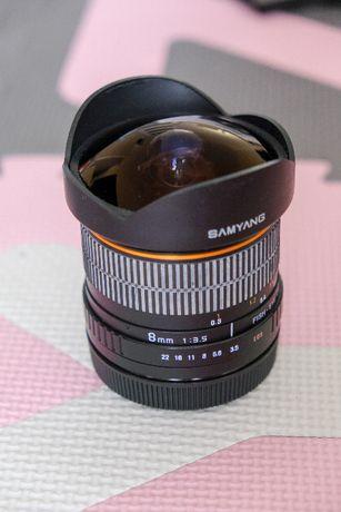 Obiektyw SAMYANG Fisheye CS 8mm f/3.5 Canon