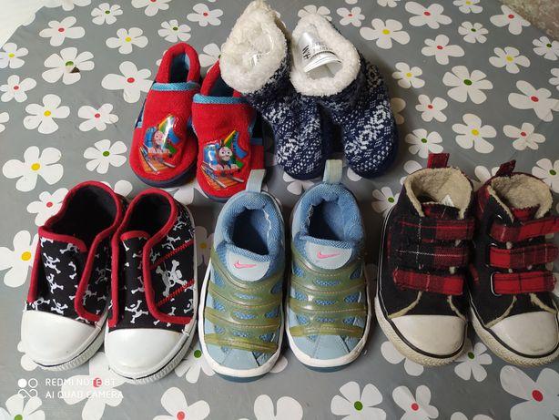 5par butów dla chłopca r. 21-22 trampki, adidasy, kapcie