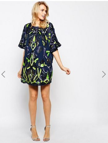 блестящее платье в пайетки, 40/L/48 38/M/46 XL для беременных