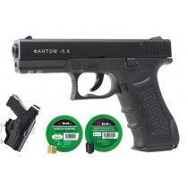 ZESTAW Pistolet Hukowy PHANTOM 5.6mm + Amunicja Adaptery i Kabura
