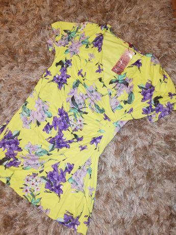Tunika ciążowa żółta w kwiaty nowa HAPPYMUM 38