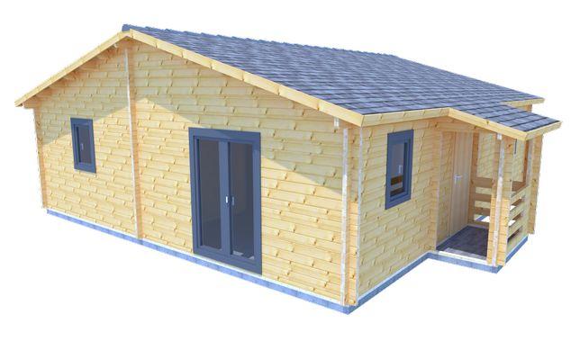 Całoroczny Domek Drewniany - ZIMORODEK 797x897 71,5m2