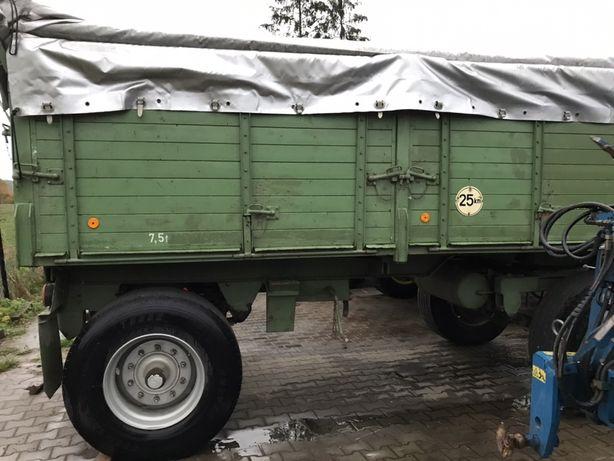 Przyczepa wywrot wywrotka dwustronny HALL 15 ton w oryginale z Niemiec