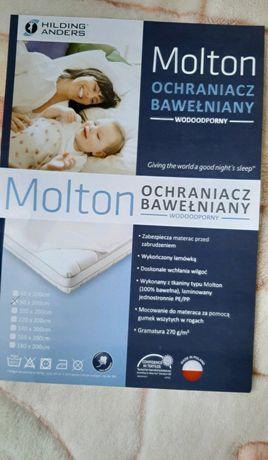 Ochraniacz bawełniany wodoodporny na materac, na łóżko 90x200 MOLTON