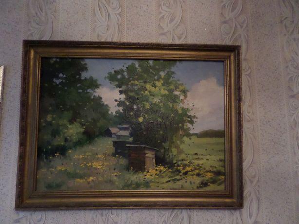 Масло,холст картина 82х62 , багет. прошлый век