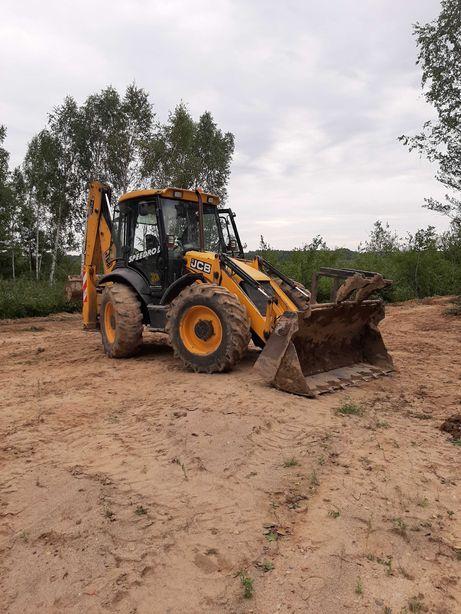 Jcb 4cx uslugi wykopy, fundamenty, niwelacja terenu itd.