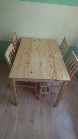 Okazja! Stół i 4 krzesła