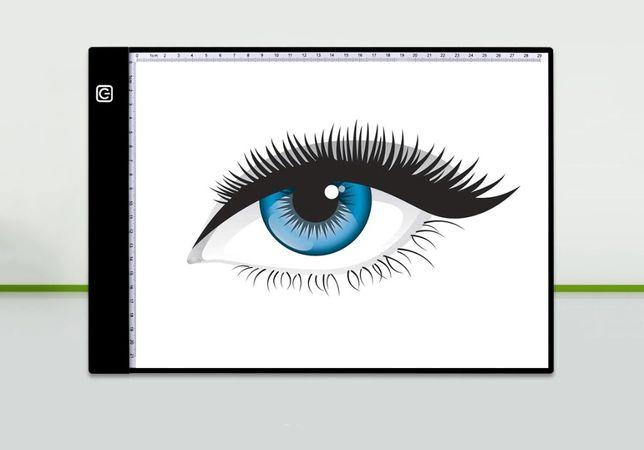 Световой планшет для рисования / копирования A4 + линейка