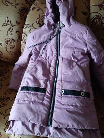 Весенняя куртка для девочки с флисом
