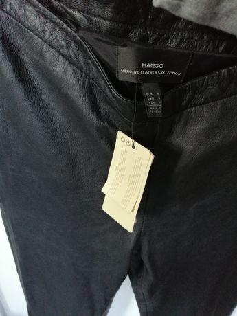 Nowe z metkami skórzane spodnie Mango skora naturalną prawdziwa