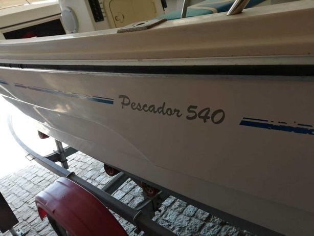 Embarcação OBE Pescador 540, 50hp 4 tempos a carburador