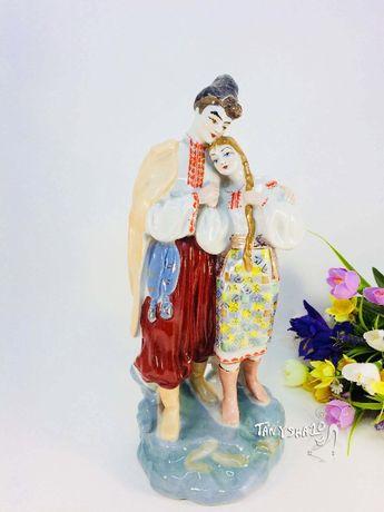 Майская ночь- фарфоровая статуэтка Казак и Казачка Влюбленные сувенир
