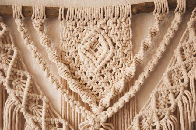 Makrama boho duża na ścianę ręcznie robiona handmade