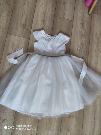 Cool club 122 biała sukienka ecru.