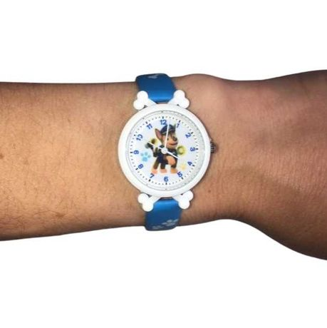 Zegarek dziecięcy na rękę, analogowy, Psi Patrol, Chase