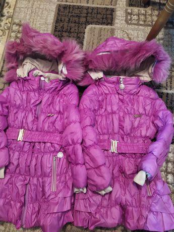 Зимние непродуваемые куртки для двойни