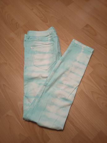Spodnie miętowe rozmiar M