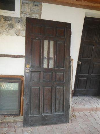 drzwi wejściowe- 90x205- używane- bez ościeżnicy