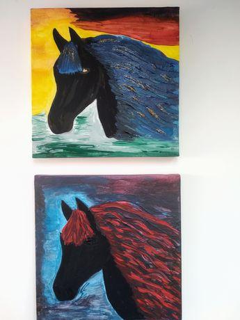 Obraz abstrakcja ozdoba dekoracja koń