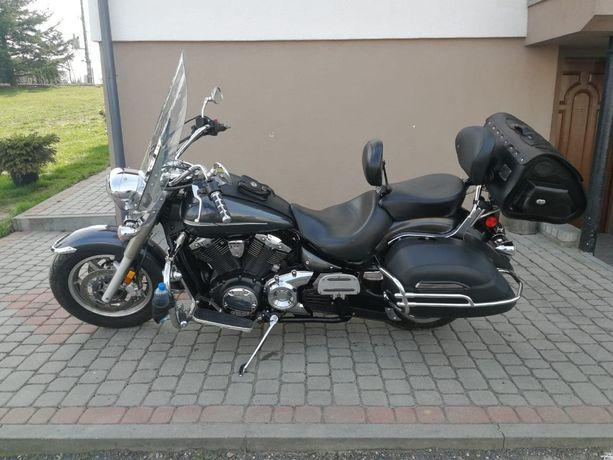 Yamaha XVS 1300_Piękna zadbana_100 KM_2012_Kufry_Szyba przednia_