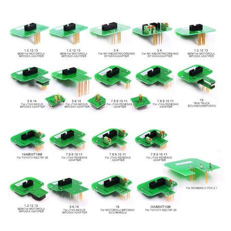 Набор из 22 BDM ЭБУ адаптеров для BDM100, KESS, KTAG, CMD, FGTECH, KTM