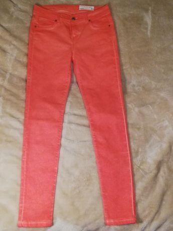 Markowe spodnie jeans morelowe rurki wysoki stan rozm. 40 jak nowe