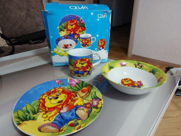 Набор посуды детск. 3 предмета сертифицир.