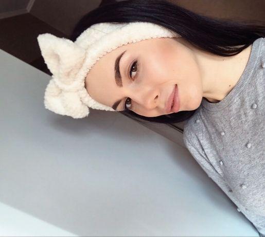 Повязка для волос /Косметика- сыроватка/кисти/заколки