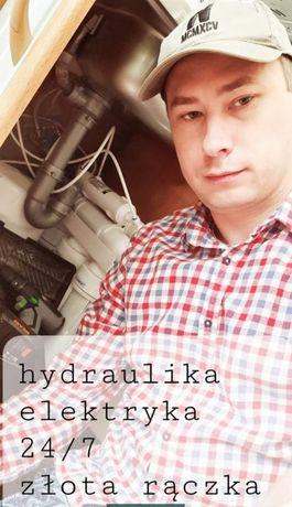 Hydraulik Elektryk Udrażnianie rur, kanalizacji Gwarancja+Faktura 24/7