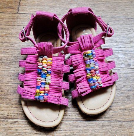 Босоножки сандалии Некст Next яркие замш размер 9